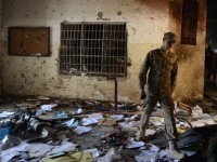 Scene of Army Public School where 150 including 133 children were killed by terrorists on 16th December, 2014.