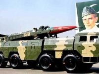 File Photo —  A Pakistan nuclear-capable missile.