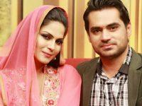 File photo of Veena Malik and Asad Khattak.