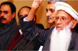File Photo of Baba Haider Zaman, founder of Tehrik-e-Sooba Hazara party.