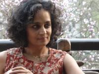 Arundhati Roy. Picture credits Sanjay Kak.