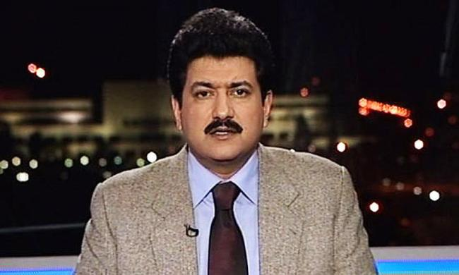 File photo of Hamid Mir who hosts a famous current affairs program Capital Talk on Geo News.