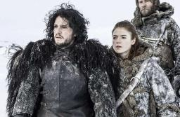Kit Harrington and Rose Leslie on the sets of HBO series Game of Thrones.