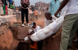 Relatives dancing with the corpses of their loved ones are helping to spread the plague, officials have warned