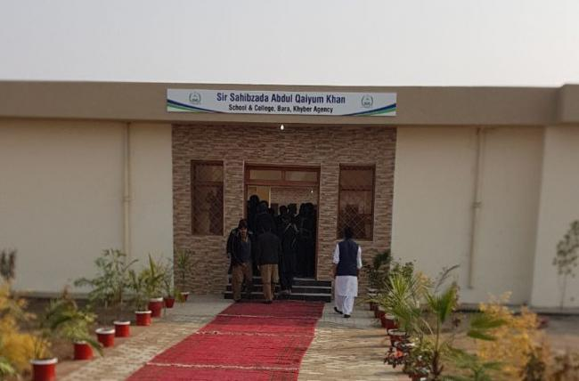Front view of the Sir Sahibzada Abdul Qayyum Khan School & College, Bara, Khyber Agency. Picture: VoJ Photo