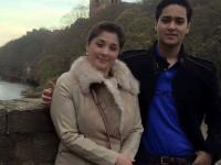 FIle photo Maryam Nawaz with her son Muhammad Junaid Safdar.