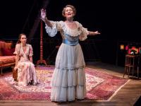 Kate O'Flynn and Cherry Jones in The Glass Menagerie, a Broadway Based on The Book. CREDIT: JOHAN PERSSON