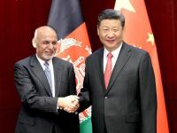 File photo of Afghanistan President Ashraf Ghani (left) with Chinese President Xi Jinping.