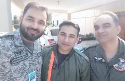 PAF Pilot, pictured in the middle, shot down IAF jet.
